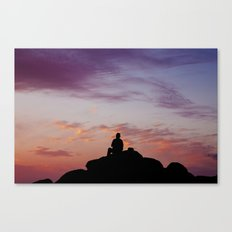 Man Enjoying Sunset II Canvas Print