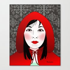 Little riding red hood Canvas Print
