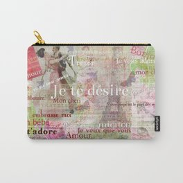 Romantic French Love Phrases and Words Carry-All Pouch
