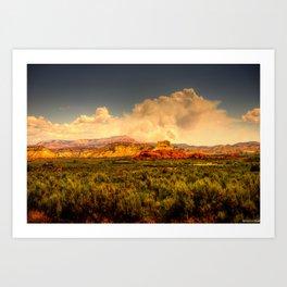 Utah Clouds Art Print