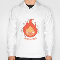 calcifer Hoodies featuring She Likes My Spark! by princefox