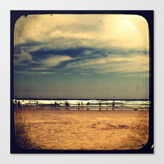 Vintage Beach - Through The Viewfinder (TTV) Canvas Print