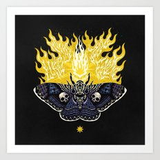 Moths to a Flame Art Print