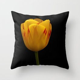 A Flaming Tulip Throw Pillow