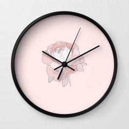 PEONIA ROSA - Sorbetedelimón Wall Clock