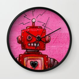Orange-bot Wall Clock