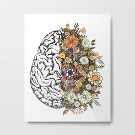 Anatomy Brain Metal Print