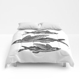 Flying Fish | Black and White Comforters