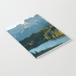 Sunrise at a mountain lake with forest - Landscape Photography Notebook