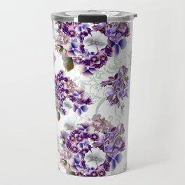 French pattern in vintage Provance style with lilac Travel Mug