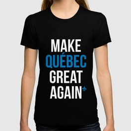 Make Quebec Great Again MQGA fleur de lys black T-shirt