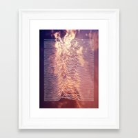 joy division Framed Art Prints featuring Joy Division by NoHo