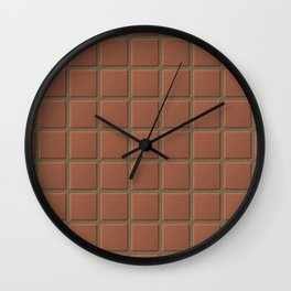 Terra Cotta Tiles with Sandy Grout Wall Clock
