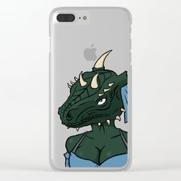 Lusty argonian maiden Clear iPhone Case