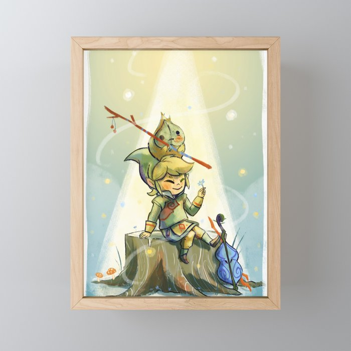 Forest Aria Framed Mini Art Print