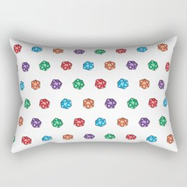 D20 multiple dice non-linear Rectangular Pillow