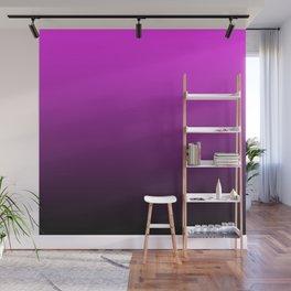 Deep Pink to Black Gradient Wall Mural