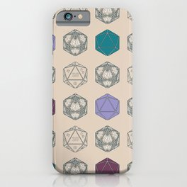 Decorated d20s - light and colorful iPhone Case