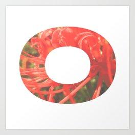"""O"" Initial Flower Art Print"