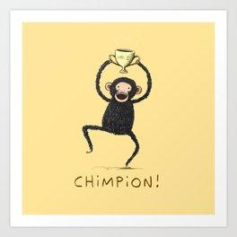 Chimpion Art Print