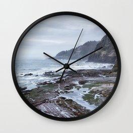 Low Tide Along the Oregon Coast Wall Clock