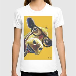 Yellow Glasses Cow, Cow up close glasses T-shirt