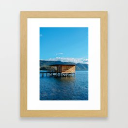 Coatepeque Lake, El Salvador. Framed Art Print
