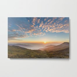 Sunset from the Appennines Metal Print