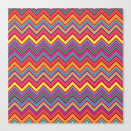 Colourful Chevron Canvas Print