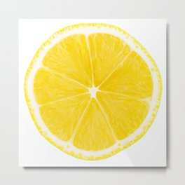 LOVE LEMON Metal Print