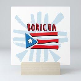 BORICUA PUERTO RICO ART Mini Art Print