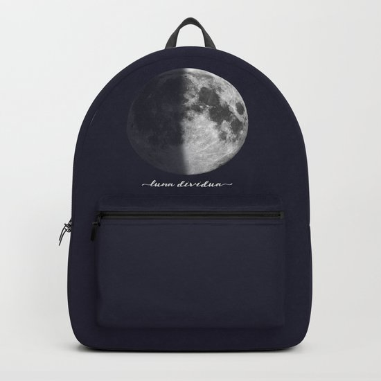 First Quarter Moon on Navy Latin Backpack
