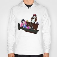 roller derby Hoodies featuring Roller Derby Therapy by RonkyTonk