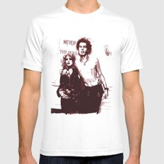 Sid and Nancy Mens Fitted Tee White MEDIUM