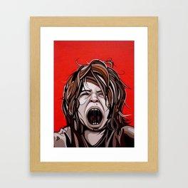 I Hate You Times Infinity Framed Art Print