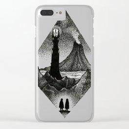 Mount Doom Clear iPhone Case