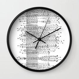 Seismograph Field Wall Clock