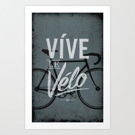Vive Le Velo 2011 grayscale Art Print