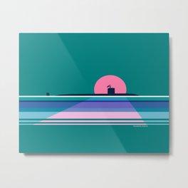 Moonlit Submarine Metal Print
