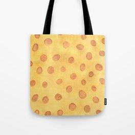Brown dots on yellow Tote Bag
