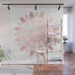 Dancing Mandala Rose Gold Wall Mural