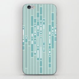 Ocean Reflection – Blue / Teal Midcentury Abstract iPhone Skin