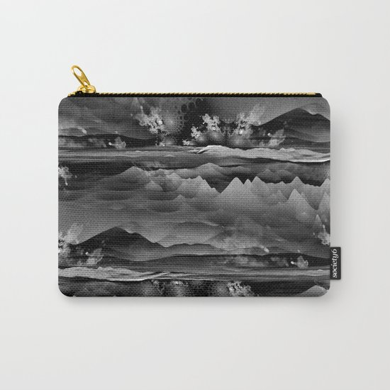 Residual Worlds (b&w) Carry-All Pouch