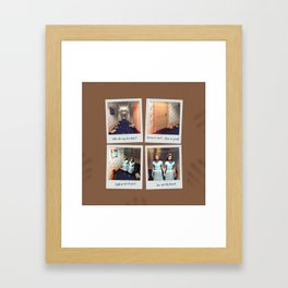 Twins & Chocolate Framed Art Print