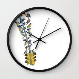 Birds on traffic lights Wall Clock