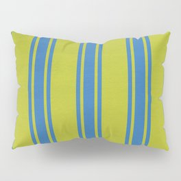 Blue lines on a yellow background Pillow Sham