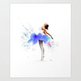 Ballerina in Watercolour Art Print