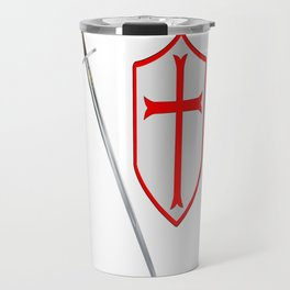 Crusaders Sword and Shield Travel Mug