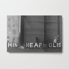 Minneapolis BW Metal Print