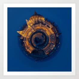 Tiny World of the Hungarian Parliament in Budapest Art Print